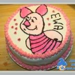 Pasiasty, różowy tort...