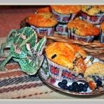 Muffiny jagodowe z biala ...
