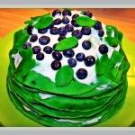 Zielony tort nalesnikowy ...