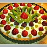 Tarta budyniowa z owocami...