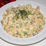 Salatka z ryzem i paluszk...