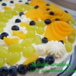 Tort z galaretka i owocam...