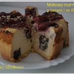 Makowy marmurek z serem...