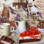 Kakaowy torcik z truskawk...