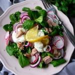 Salatka z roszponka, tunc...