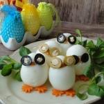 Sowy - jajka faszerowane...