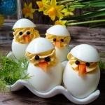 Kurczaczki - jajka...