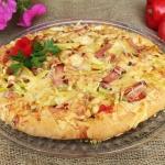 Pizza z szynka, fasolka s...