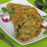 Wiosenny omlet z pokrzywa...
