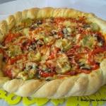 Wegetarianska pizza z chr...