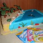 Tort blekitna laguna :)