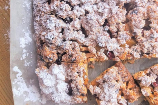 Kruchy placek z musli i owocami / Fruit and Musli Shortbread Bars