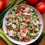 Ryzowa salatka z kurczaki...