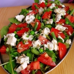 Salatka z gorgonzola, ruk...