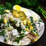 Salatka sledziowa z ziemn...