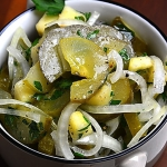Salatka z kiszonych ogork...