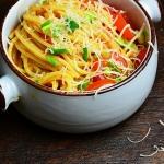 Spaghetti z pieczona dyni...