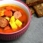 Zupa pomidorowa z kielbas...