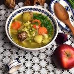 Zupa z kapusty i groszku