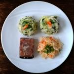 Tofu z nori i colcannon,...