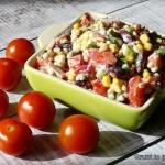 Kolorowa salatka z peczak...