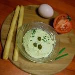 Pasta z jajek i kaparow