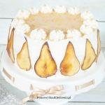 tort z gruszkami