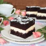 ciasto czekoladowo kokoso...