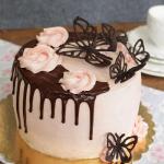tort z kremem...