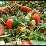 Salatka z rukola i prazon...