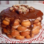 Tort z małych pączków...