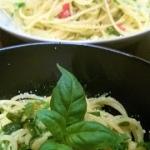 Spaghetti z czosnkiem,...