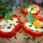 Jajko podane w papryce