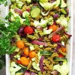 Pieczone warzywa z makaro...