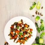 Salatka z pieczona brukse...