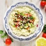 Risotto z warzywna salsa