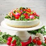 Sernik bazyliowy z salatk...