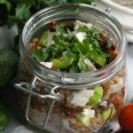 Salatka z kasza gryczana ...
