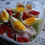 Salatka z endywia i filet...