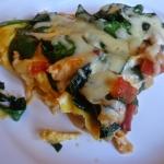 Pizza omletowa ze szpinak...