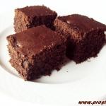 Ucierane ciasto  kakaowe...