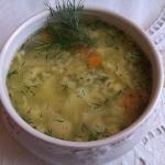 Zupa koperkowa z lanymi k...