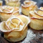 Ciastka jesienne roze