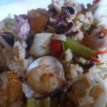 risotto z owocami morza