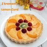 Tarta z kremem lemon curd