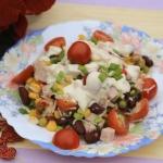 Salatka z czerwonej fasol...