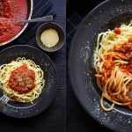 Spaghetti z orzechowym...