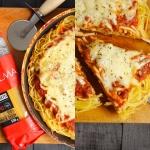 Spaghetti pizza z...