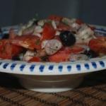 Grecka sałatka z fasoli