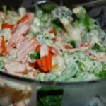 Bukiet warzyw z serowym...